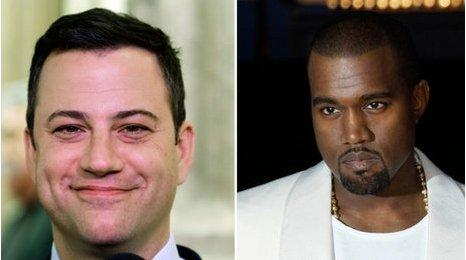 Jimmy Kimmel and Kanye West