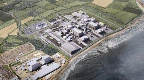 Computer generated image of Hinkley Point C