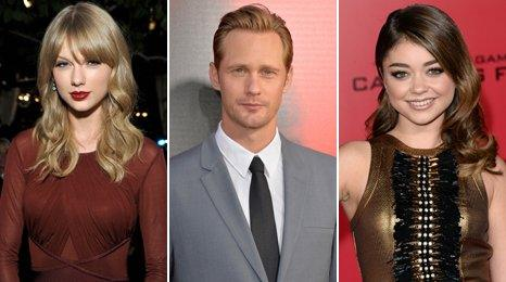 Taylor Swift, Alexander Skarsgard and Sarah Hyland