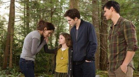 Bella, Edward, Jacob and Renesmee