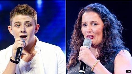 Nicholas McDonald and Sam Bailey X Factor finalists