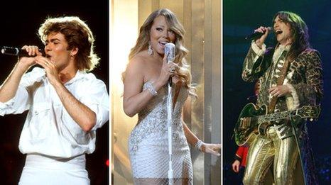 George Michael, Mariah Carey and Justin Hawkins