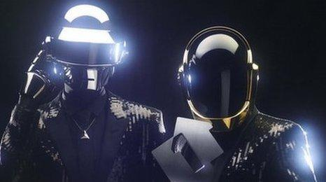 Daft Punk pick up the number one trophy for Get Lucky