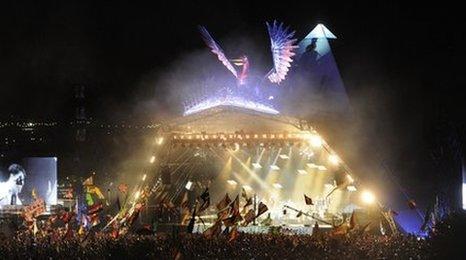 Glastonbury pyramid stage 2013