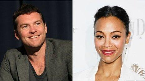 Sam Worthington and Zoe Saldana
