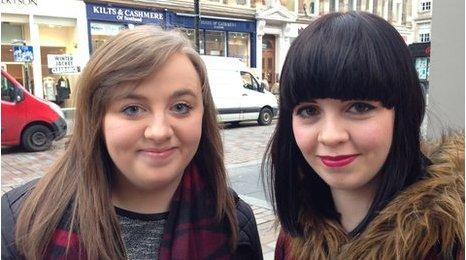 Danielle McKenna, 18 (left) and Louise Hogg