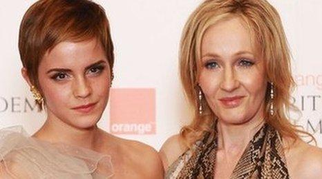 Emma Watson and JK Rowling in 2011