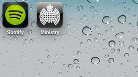 Spotify and Ministry of Sound logos