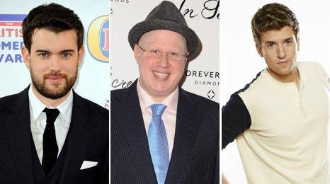 Jack Whitehall, Matt Lucas and Greg James
