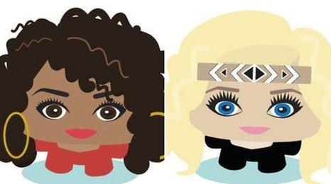 Leigh-Anne Pinnock and Perrie Edwards avatars