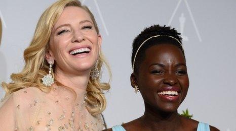 Cate Blanchett and Lupita Nyong'o
