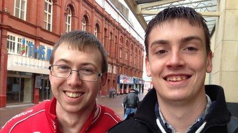 James Shute (right) and Jamie Sampson