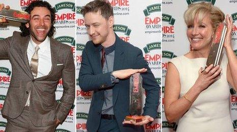 Aidan Turner, Emma Thompson (Saving Mr. Banks) and James McAvoy (Filth) end the 2014 Empire Awards.