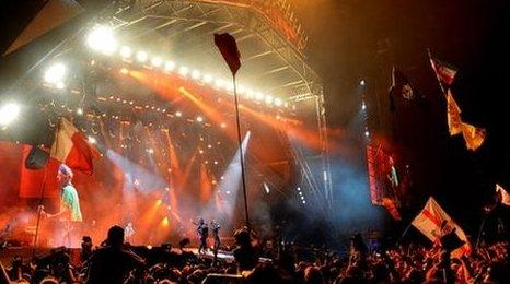 The Rolling Stones headlined Glastonbury 2013 along with Arctic Monkeys and Mumford and Sons