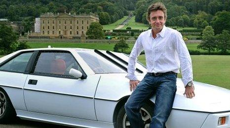 Richard Hammond sat on a car