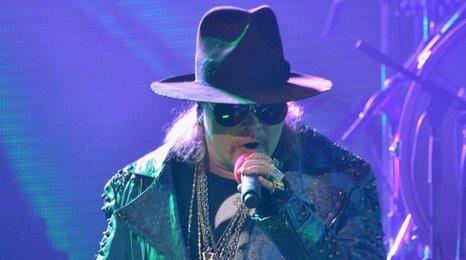 Axl Rose from Guns N' Roses
