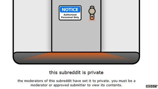 Reddit private notice