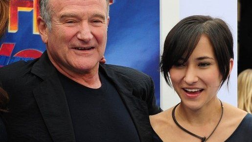 Robin Williams and his daughter Zelda pictured together in November 2011