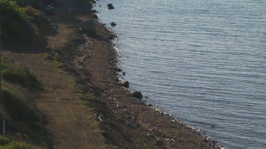 Empty Lesbos beach