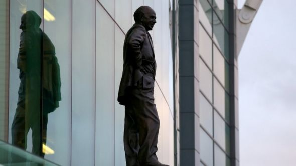 The Matt Busby statue at Old Trafford