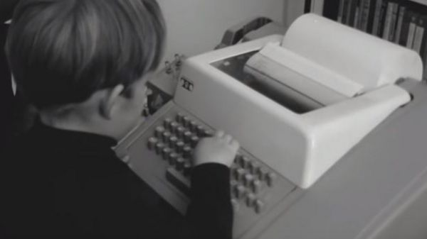 The first home computer terminal