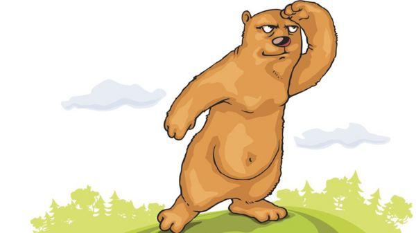 A cartoon bear