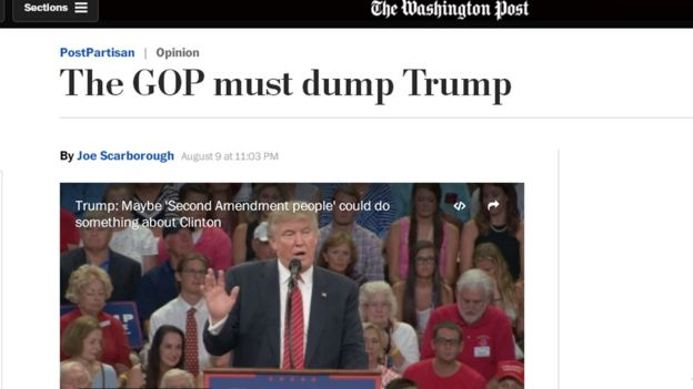 Screen grab of Joe Scarborough op-ed on Trump in The Washington Post