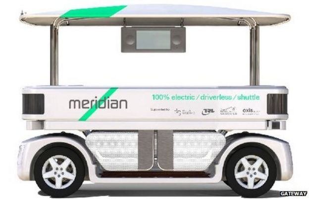 Automated passenger shuttle vehicle