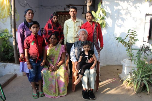 王琪與家人