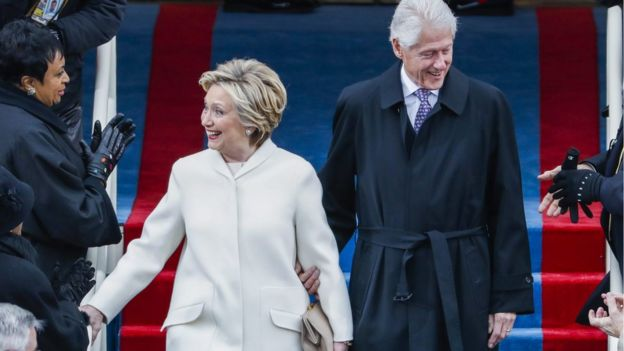 Hillary Clinton y Bill Clinton