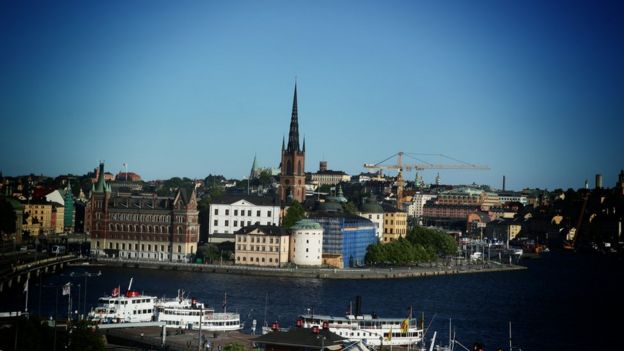 Paisaje de Estocolmo.