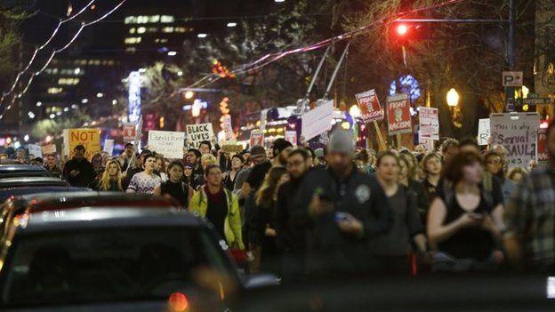 تظاهرات در سیاتل