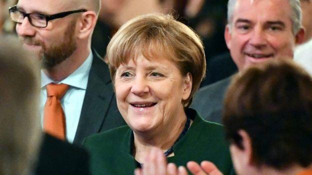 تصویر انگلا مرکل در نشست هایدلبرگ