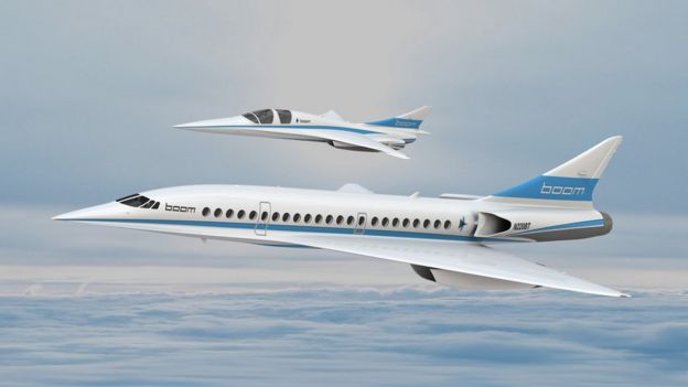 Artist's impression of supersonic passenger jet prototypes