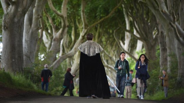 Game of Thrones tourists visiting one of its best-known locations in Northern Ireland