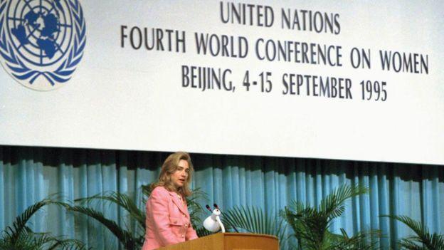 El famoso discurso de Hillary Clinton en la Organización de Naciones Unidas en 1995