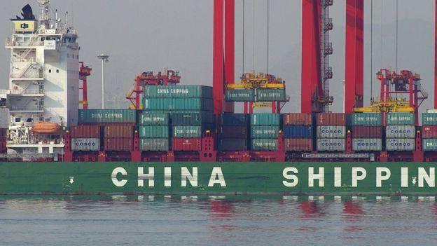 Barcos de carga chinos.