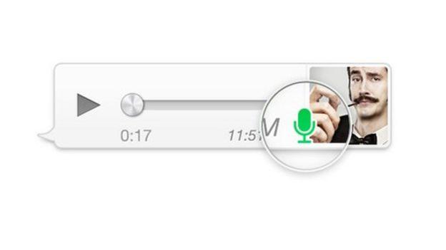 Tecla de reproducción de mensaje de voz de Whatsapp.