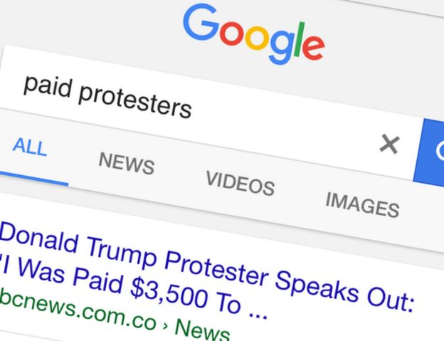 Google search results for