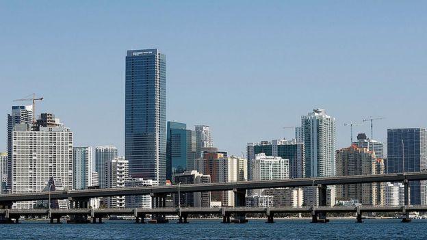 Un paisaje de la ciudad de Miami