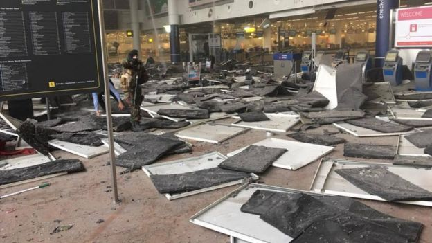 Brussels airport check-in after blast