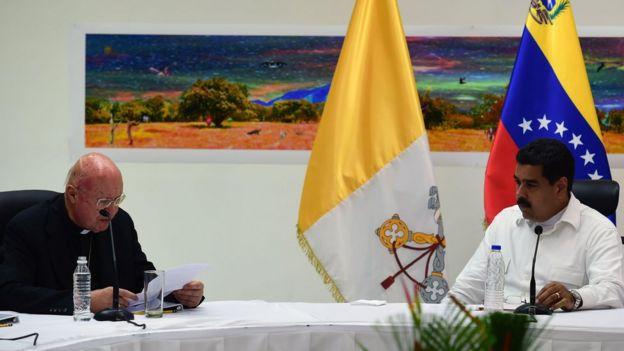Claudio María Celli y Nicolás Maduro