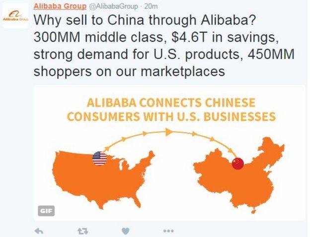 Alibaba Group Tweet