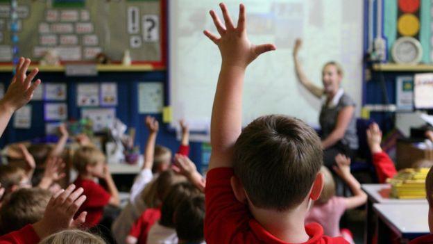 Salón de clases en escuela infantil