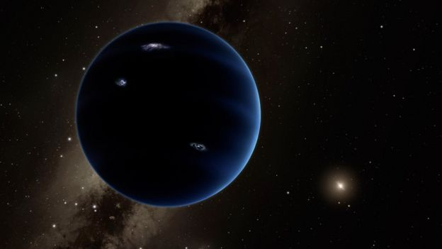 Artist's impression of ninth planet