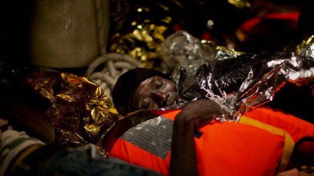 De nombreux migrants secourus viennent de Somalie ou d'Erythrée.