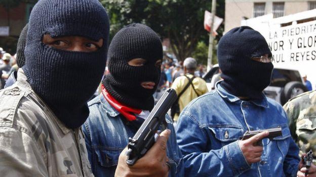 Miembros de una banda armada