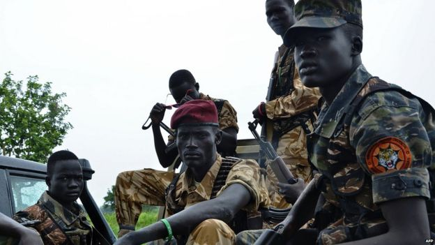 South Sudanese government soldiers pictured in 2015