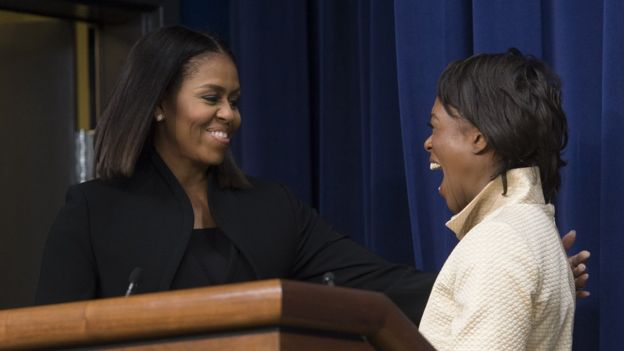 Michelle Obama y Margot Lee Shetterly,