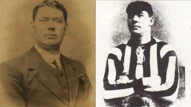 Goalkeeper Fred Griffiths was killed in Flanders in 1917